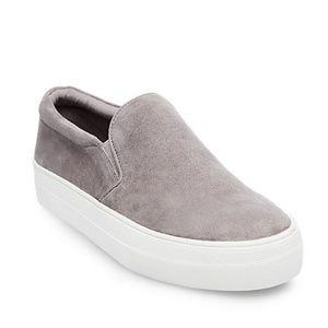 Grey Suede Slip-on Sneaker